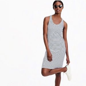 EUC JCrew Stripe Racer Back T Shirt Dress
